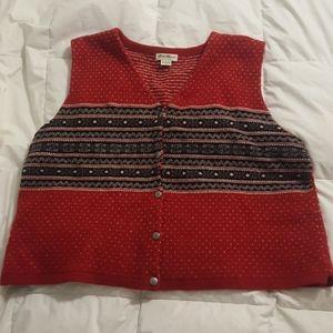 Eddie Bauer Holiday Sweater Vest